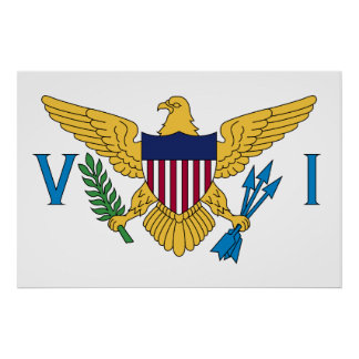 Flag of the US Virgin Islands Poster