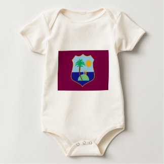 Flag of The West Indies Cricket Baby Bodysuit