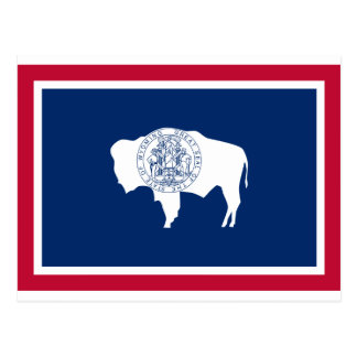 Flag of the Wyoming Postcard