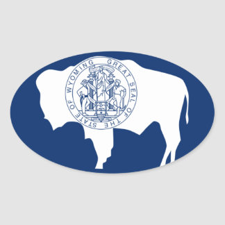 Flag of the Wyoming Stickers