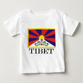 Flag of Tibet  or Snow Lion Flag Baby T-Shirt