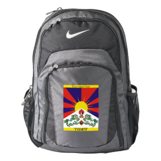 Flag of Tibet  or Snow Lion Flag Backpack