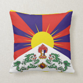 Flag of Tibet  or Snow Lion Flag Cushion