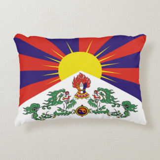 Flag of Tibet  or Snow Lion Flag Decorative Cushion