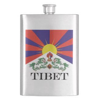 Flag of Tibet  or Snow Lion Flag Hip Flask