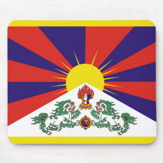 Flag of Tibet  or Snow Lion Flag Mouse Pad