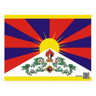 Flag of Tibet  or Snow Lion Flag Postcard
