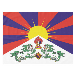 Flag of Tibet  or Snow Lion Flag Tablecloth