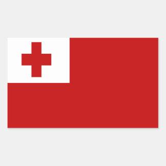 FLAG OF TONGA RECTANGULAR STICKER