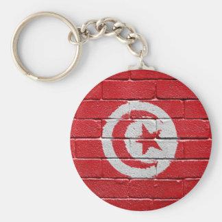 Flag of Tunisia Basic Round Button Key Ring