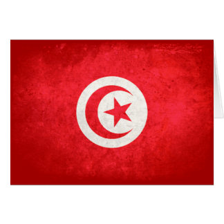 Flag of Tunisia Stationery Note Card