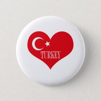 Flag of Turkey 6 Cm Round Badge