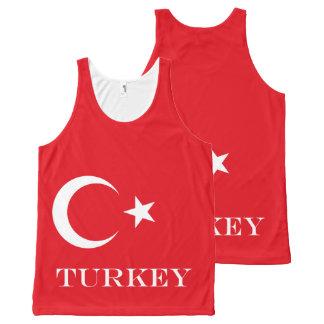 Flag of Turkey All-Over Print Singlet