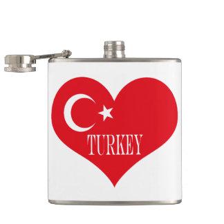 Flag of Turkey Hip Flask