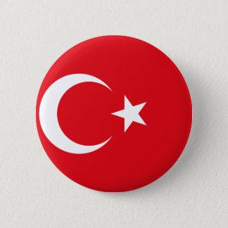 Flag of Turkey - Turkish flag - Türk bayrağı 6 Cm Round Badge