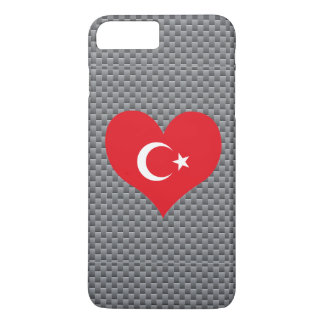 Flag of Turkish on metal background iPhone 7 Plus Case