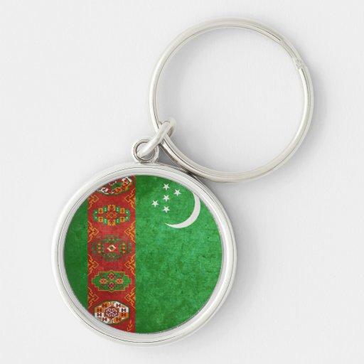 Flag of Turkmenistan Keychains