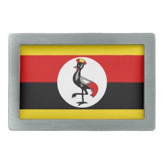 Flag of Uganda Rectangular Belt Buckle