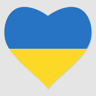 Flag of Ukraine Heart Sticker