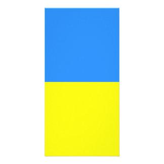 Flag of Ukraine Custom Photo Card