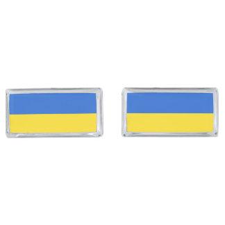 Flag of Ukraine Silver Finish Cuff Links