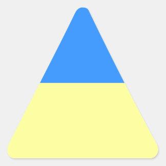 Flag of Ukraine Triangle Sticker