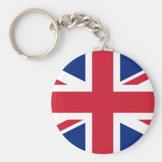 Flag of United Kingdom. Basic Round Button Key Ring