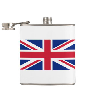 Flag of United Kingdom. Hip Flask