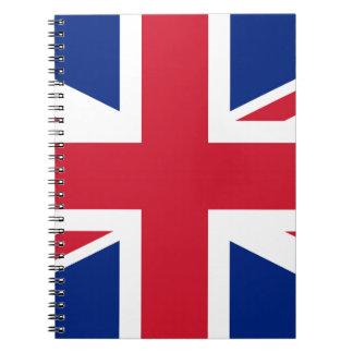 Flag of United Kingdom. Spiral Notebook