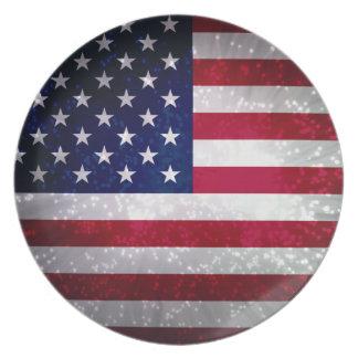 Flag of United States Dinner Plates