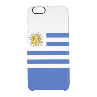 Flag of Uruguay Clear iPhone Case