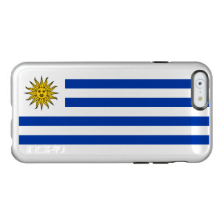 Flag of Uruguay Silver iPhone Case