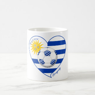 Flag of URUGUAY SOCCER champions of world 2014 Coffee Mug