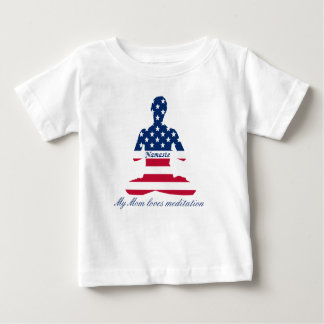 Flag of USA meditation American yoga Baby T-Shirt