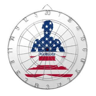 Flag of USA meditation American yoga Dartboard