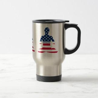 Flag of USA meditation American yoga Travel Mug