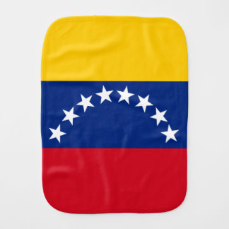 Flag of Venezuela Burp Cloth