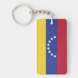 Flag of Venezuela Double-Sided Rectangular Acrylic Key Ring