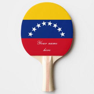 Flag of Venezuela Ping Pong Paddle