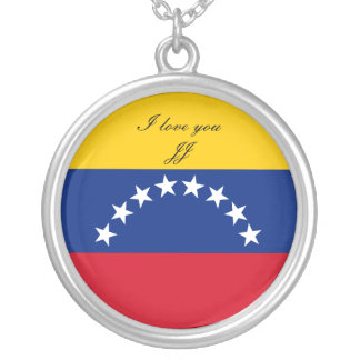 Flag of Venezuela Silver Plated Necklace
