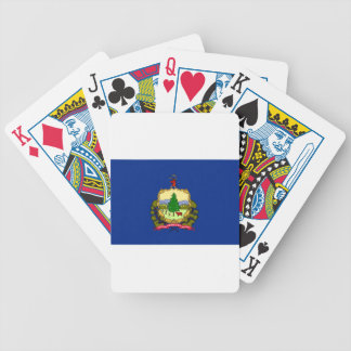 Flag Of Vermont Bicycle Playing Cards
