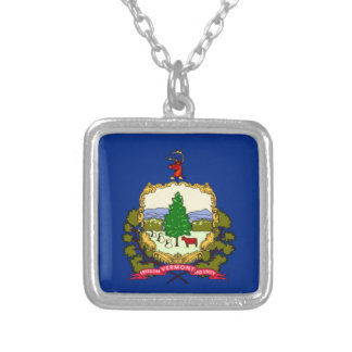 Flag Of Vermont Silver Plated Necklace