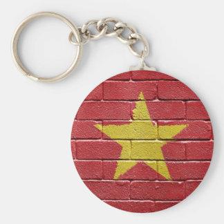 Flag of Vietnam Basic Round Button Key Ring