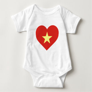 Flag of Vietnam - I Love Viet Nam - Cờ đỏ sao vàng Baby Bodysuit