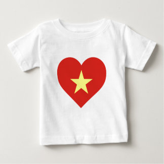 Flag of Vietnam - I Love Viet Nam - Cờ đỏ sao vàng Baby T-Shirt