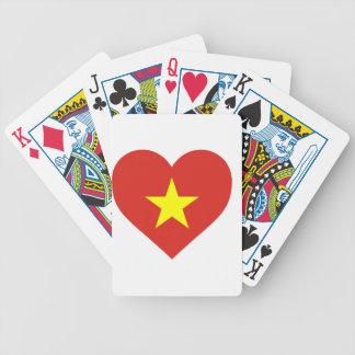 Flag of Vietnam - I Love Viet Nam - Cờ đỏ sao vàng Bicycle Playing Cards