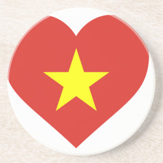 Flag of Vietnam - I Love Viet Nam - Cờ đỏ sao vàng Coaster