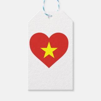 Flag of Vietnam - I Love Viet Nam - Cờ đỏ sao vàng Gift Tags