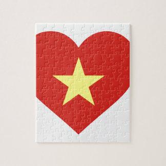 Flag of Vietnam - I Love Viet Nam - Cờ đỏ sao vàng Jigsaw Puzzle