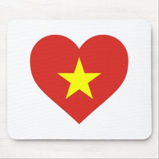 Flag of Vietnam - I Love Viet Nam - Cờ đỏ sao vàng Mouse Pad